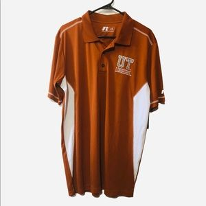 Nwt UT LONGHORNS polo polyester Large texas